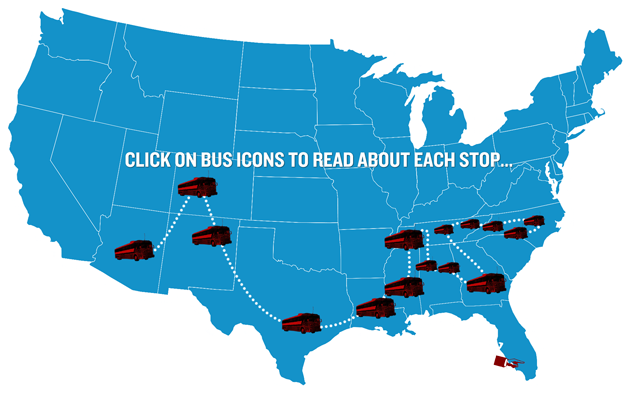 Bus Tour Map